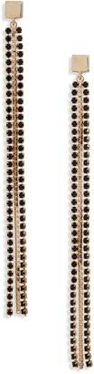 Halogen Stone Chain Linear Drop Earrings