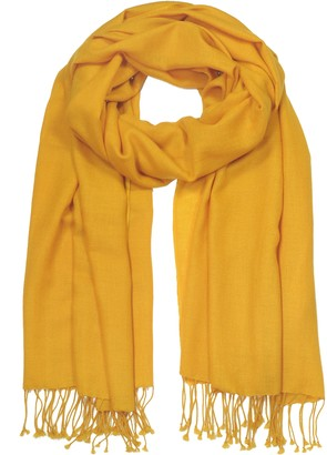 Forzieri Corn Yellow Pashmina Shawl