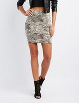 Charlotte Russe Camo Bodycon Mini Skirt