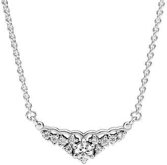 Pandora Silver Cz Fairytale Tiara Necklace