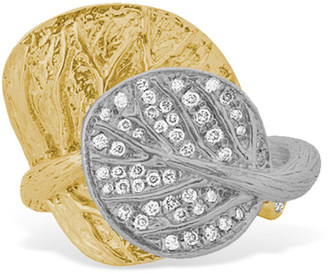Michael Aram Two-Tone Double Leaf Ring, Size 7