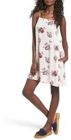Mimichica Women's Mimi Chica Print Lattice Back Dress