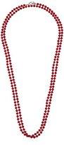 "Carolee Rainbow Room"" Rainbow Room Red Bead Rope Strand Necklace"