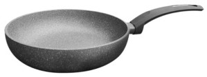 """Amercook Aluminum Round Deep Fry Pan, Skillet with Induction Buttom 11"""""""