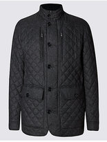 M&S Collection Quilted Textured Jacket with StormwearTM