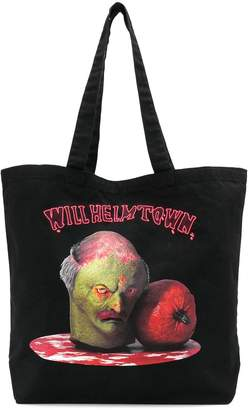 Bernhard Willhelm Camper Lab x printed tote bag