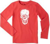 Life is Good Boys' Bike Skull Long Sleeve Crusher T-Shirt
