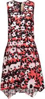 Marni Asymmetric printed silk-twill dress