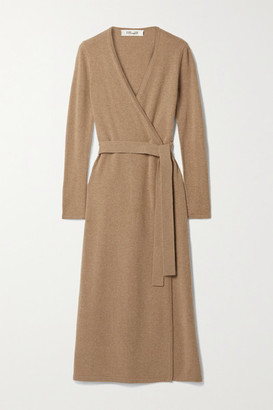 Diane von Furstenberg Astrid Wool And Cashmere-blend Wrap Dress - Camel