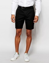 Asos Slim Tailored Shorts In Black