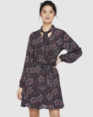 Oxford Luca Plum Floral Dress