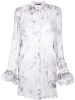 Roberto Cavalli ruffled neck shirt - women - Silk - 38