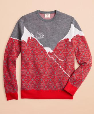 Brooks Brothers Washable Merino Wool Ski Sweater