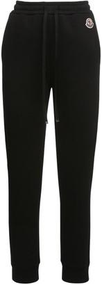 Moncler Cotton Jersey Track Pants W/logo Patch