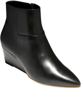 Cole Haan Eneida Leather Wedge Bootie