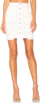 J.o.a. Slim Fit Button Down Denim Skirt