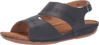 Easy Street Shoes Womens Sloane Comfort Wave Slingback Sandal