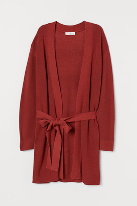 H&M Wrap-front Cardigan - Red