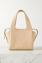 The Row Tr1 Small Textured-leather Tote - Off-white