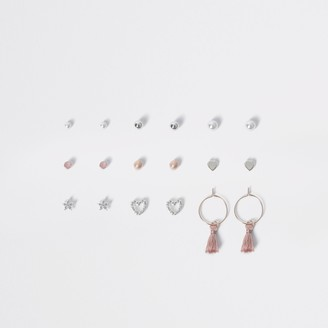 River Island Girls Silver colour stud earring multipack