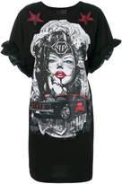 Philipp Plein ruffle sleeve T-shirt dress