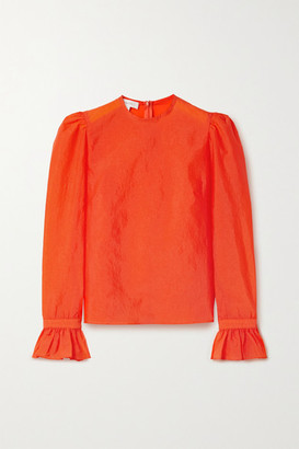 Beaufille Maiolino Ruffled Stretch-crepe Blouse - Orange