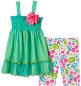 Youngland Toddler Girl Smock Dress & Leggings Set