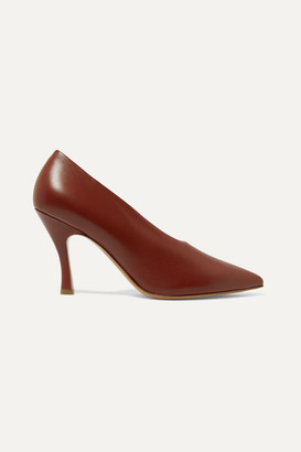 Dries Van Noten Leather Pumps - Claret