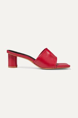 SALONDEJU Volure Leather Mules - Red