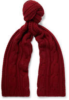 Loro Piana Cable-knit Baby Cashmere Scarf - Red