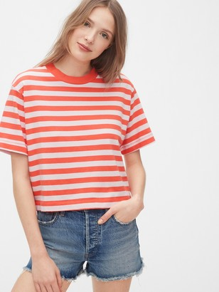 Gap Cropped Striped T-Shirt