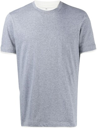 Brunello Cucinelli contrast-trimmed cotton T-shirt