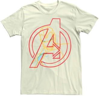 Iron Man Men's Marvel Avengers Pop Art Logo Tee