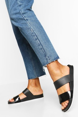 boohoo Double Strap Jelly Slides