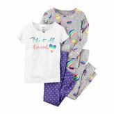 Carter's Girls 4Pc Pajama Mock Set