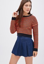 Forever 21 Bold Stripes Cropped Sweater