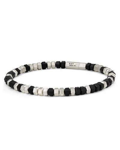 David Yurman Men's Hex Bead Bracelet, Black
