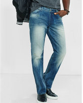 Express straight leg loose fit dark wash jean