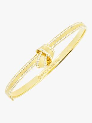 Knot Diamond Trim Bangle