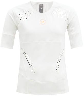 adidas by Stella McCartney Truepurpose Cutout Stretch-jersey Top - White