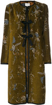 Forte Forte floral embroidered coat - women - Cotton/Polyester/Cupro/Viscose - 2