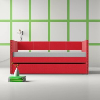 Hashtag Home Yelton Twin Daybed with Trundle Color (Frame): Red