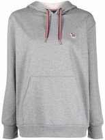 Thumbnail for your product : Paul Smith Logo-Embroidered Drawstring Hoodie
