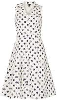 Izabel London *Izabel London Multi Navy Spotted Dress
