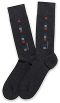 Calvin Klein Combed Cotton Blend Square Design Socks