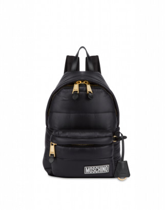 Moschino Small Backpack In Quilted Nylon