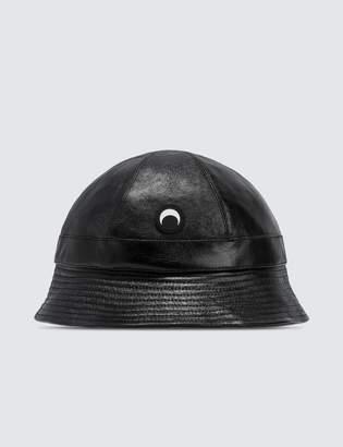 Marine Serre Leather Bob Hat
