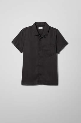 Weekday Duo Tuned Black Denim Shirt - Black