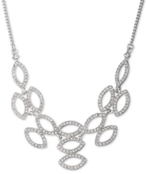 """Givenchy Crystal Navette Statement Necklace, 16"""" + 3"""" extender"""