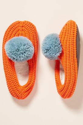 Verloop Fleece-Lined Sock Slippers By Verloop in Red Size S/M